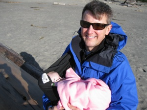 Her first beach adventure at 3 months