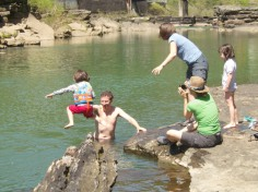 Evie cliff jumping