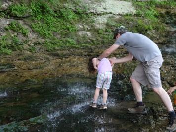 Waterfall hairwash for Melis