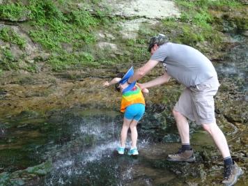 Waterfall hairwash for Evie
