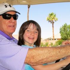 Happy Grandpa and Evie