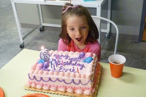 Evie & her cake - 10 Oct 2014