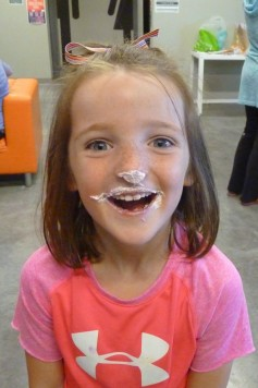 Evie loves her frosting!! 10 Oct 2014