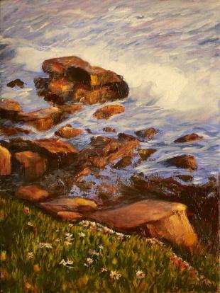 Laguna Rocks 13x17 Framed $275
