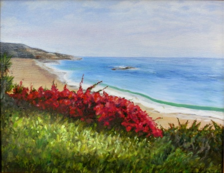 Overlooking 14x17 Framed Sold