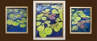 Triptych 8x10, 8x10, 11x14 Framed $395