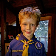 Already a cub scout.